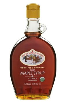 Shady Maple Farms oz Organic Grade A Dark Maple Syrup Glass. But dont just take our word on it. Shady Maple Farms certified organic pure maple syrup is third-party certified, and has been since Organic Maple Syrup, Pure Maple Syrup, Tapping Maple Trees, All About Canada, Cookie Cups, Whiskey Bottle, Perfume Bottles, Container, Handle