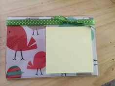 DYI - Use retired Thirty One Swatches and fill in a clear picture frame to make a post-it note pad