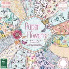 PAPELES PAPER FLOWERS 30 X 30 http://scrapeasyandfun.es/