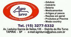 JORNAL AÇÃO POLICIAL TAPIRAÍ E REGIÃO ONLINE: AGRO TURVO Produtos Agropecuários Av. Leduíno Garcia de Salles, 135 Distrito do Rio Turvo - Tapiraí - SP e-mail: agroturvo@yahoo.com.br tel: (15) 3277-5332