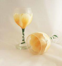 Peach Blossom Wine Glass Set (2)