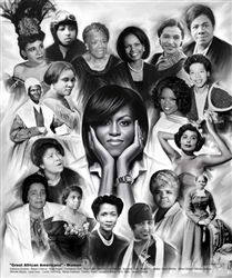 """""""Great African American Women"""" by Gregory Wishum.  This open edition print is available at Avisca.com."""