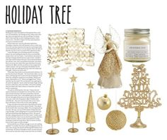 """Holiday tree"" by barbie-in-wonderland ❤ liked on Polyvore featuring interior, interiors, interior design, home, home decor, interior decorating, Shishi, Brooklyn Candle Studio, Kurt Adler and ASOS"