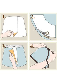 Self-adhesive lampshade - use your own fabric and make a great customized lampshade!