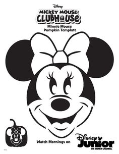 photo relating to Minnie Mouse Pumpkin Stencil Printable named 9 Simplest Minnie mouse pumpkin photos within 2016 Disney