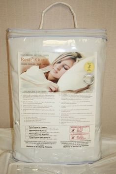 Rest-Guard Bed Bug Mattress Cover Twin 9 Inch High by Rest-Guard. $59.95. Proven protection against Bedwetting problems.. 3 Sided zipper design for easy installation and Removal, which fully-encases the Mattress or Box. Listed as a Class 1 medical device by Health Canada.. Designed with 100% cotton fluff fabric top for total comfort with a waterproof polyurethane backing. Can be Machine washed at high temperature and tumble dried at a low heat setting.. 9 Inch Twin B...