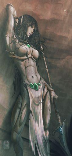Eldar - Myar by Aikurisu.deviantart.com [ female, elf, warrior ]
