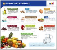 10 alimentos saludables  -  10 Healthy Food #comerbien #vidasana #alimentos #salud