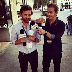 So, incredibly handsome, what can you say for your fans? Richard Speight Jr. and Rob Benedict.