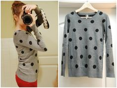 Stitch Fix: Willow and Clay Seurat Dot Crew-Neck Sweater