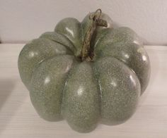 BLUE w/ SPECKS FAUX PUMPKIN GOURD HOME DECOR FALL THANKSGIVING HOLIDAY WINTER  #Unbranded