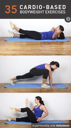 35 Cardio-Based Bodyweight Exercises, from warm-ups & cool-downs to total-body circuits || The Greatist has your next exercise routine!