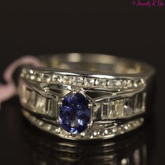 Going on auction for 0.95c......925 Sterling Silver Ring Solid Natural Genuine Tanzanite Blue Topaz Size 10 New
