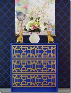 .blue gold... Ikea dresser