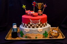 Cars themed cake...