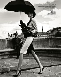 Une Journée à Paris | Miao Bin Si | Yin Chao #photography | Harper's Bazaar China October 2012