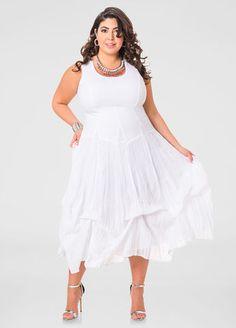 Solid Bubble Maxi Dress