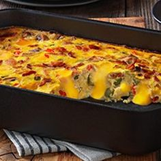 Bacon, eggs and hash browns topped with melty VELVEETA--it's everything you want for brunch in one delicious casserole.
