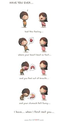 HJ-Story :: Have you ever. Aww this is so cute! Hj Story, Cute Couple Comics, Couples Comics, Cute Comics, Love Is Sweet, What Is Love, Love You, My Love, Cute Love Stories