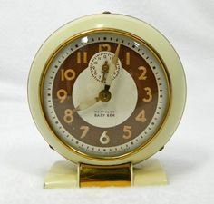 Vintage alarm clock Westclox Baby Ben cream and by 3SisterzJewelry, $27.00