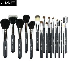 JAF 20 pcs brushes natural hair makeup brush set professional Cosmetic make up brush  tools Kits brushes for makeup  J20PY B-in Makeup…