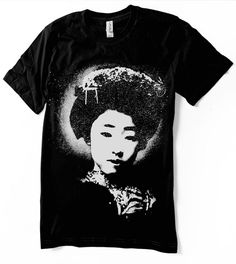 Geisha Tshirt Maiko Japanese shirt  Unisex  Women by nietoair