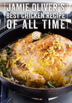 Jamie Oliver's Best Chicken Recipe of ALL TIME. This chicken recipe is SO simple to cook in your crockpot. Very unique too! If you haven't tried making chicken in milk for dinner yet, start with this meal.