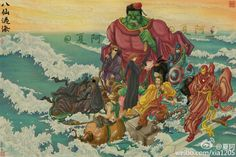 Chinese illustrator sends Marvel's Avengers to the Far East and across the sea.