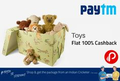 @paytm #offers Flat 100% #cashback on #Toys, Hurry Deal Closed soon. 100% cashback Coupon Code- KID100     http://www.paisebachaoindia.com/get-flat-100-cashback-on-toys-paytm/