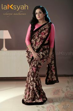 Best wedding dresses for curvy women colour beautiful Ideas Indian Beauty Saree, Indian Sarees, Silk Sarees, Kavya Madhavan Saree, Floral Print Sarees, Saree Gown, Saree Blouse Patterns, Saree Styles, Blouse Styles