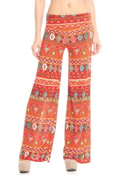 Violet Del Mar Palazzo Pant in Orange and Red - Beyond the Rack
