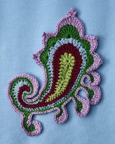 Paisley swirl crochet pattern by CAROcreated on Etsy
