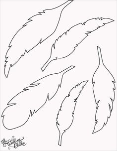 free printable feather template by leta.g.coe