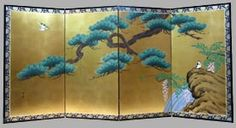 Japanese Screens-Flowers and Landscapes