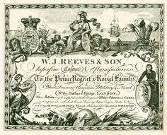 Reeves artista de la acuarela suministros- 1784 hasta antigüedades de 1900 a moderna