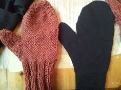 How to line mittens with fleece