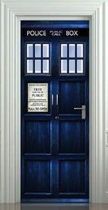 Doctor Who Tardis Door Sticker / Poster Part 75