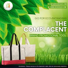 Through promotional bags and goodies, businesses can not only reduce marketing costs, but also contribute to the empowerment of local craftsmen, reduce carbon footprint, and spread a bigger message of environmental sustainability. Build a powerful brand authority that comes complimentary with each Eco-Bag you choose for brand promotion and corporate gifting. Visit us: www.richiebags.com Email us: info@richiebags.com #PromotionalBags #corporategifts #NatureBags #richiebags