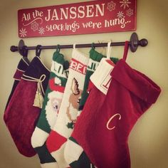 If you need some awesome Christmas living room decoration ideas then why not make your very own stocking holders. Most of the supplies can be bought at your local dollar store so these really are great holiday decor ideas you make really cheaply!