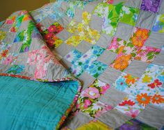 Vintage Sheet Plus Quilt - I absolutely love this and wish that I had a collection of vintage sheets.  Boo.