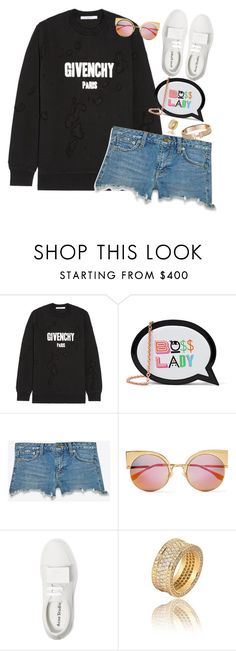 """""""Boss Lady"""" by alwayswearwhatyouwanttowear on Polyvore featuring Mode, Givenchy, Sophia Webster, Yves Saint Laurent, Fendi, Acne Studios, outfit, outfits und fashionset"""