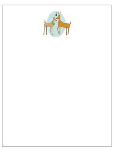 mistletoe deer christmas letter template