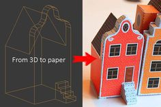From 3D Model to Papercraft Template Tutorial and a House Paper Model