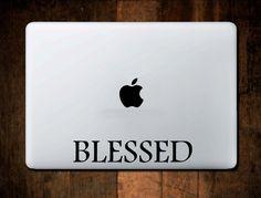 Blessed Christian Vinyl Decal Wall Sticker for Car Window Macbook Laptop by NebraskaVinyl on Etsy