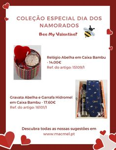 Especial Dia dos Namorados - Macmel #abelhas #apicultura #mel #hidromel #presentes #SanValentin Bee, Marketing, Mead, Bees, Valantine Day, Bottles, You Are Special, Presents, Beekeeping