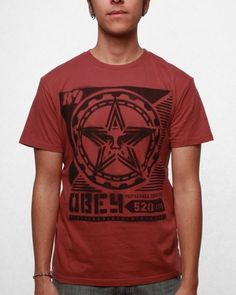 Obey Men's Propaganda Stencil Thrift T-shirt T Shirt Company, Stencil, Thrifting, Punk, Suits, My Style, Birthday, Birthdays, Stenciled Table