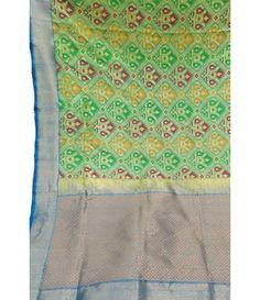Green Handloom Banarasi Katan Ghatchola Patola Saree