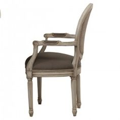 Tulip Rattan Arm Dining Chair with