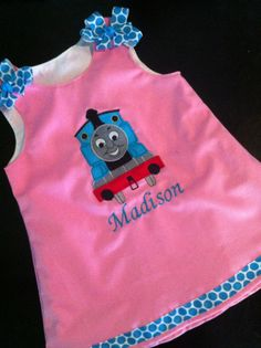 Thomas the train jumper dress by kandybarnett on Etsy Thomas The Train Birthday Party, Trains Birthday Party, Train Party, Birthday Parties, Second Birthday Ideas, 3rd Birthday, Lily Grace, Thomas Train, Jumper Dress