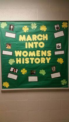 Women's history month bulletin board